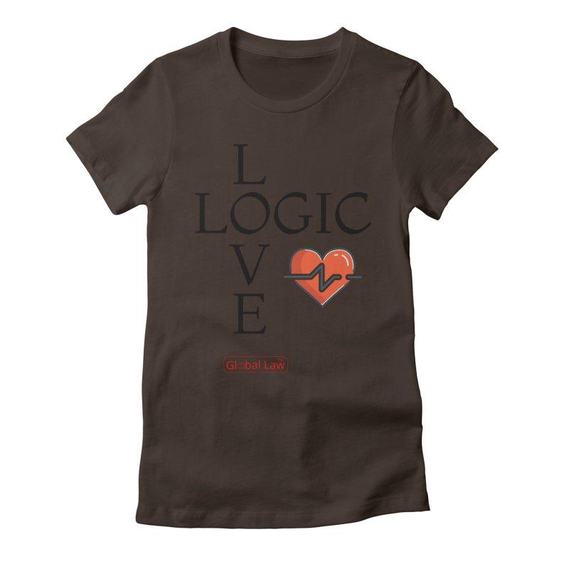 Love Logic Women's Fitted T-Shirt by GlobalLawTV's Artist Shop