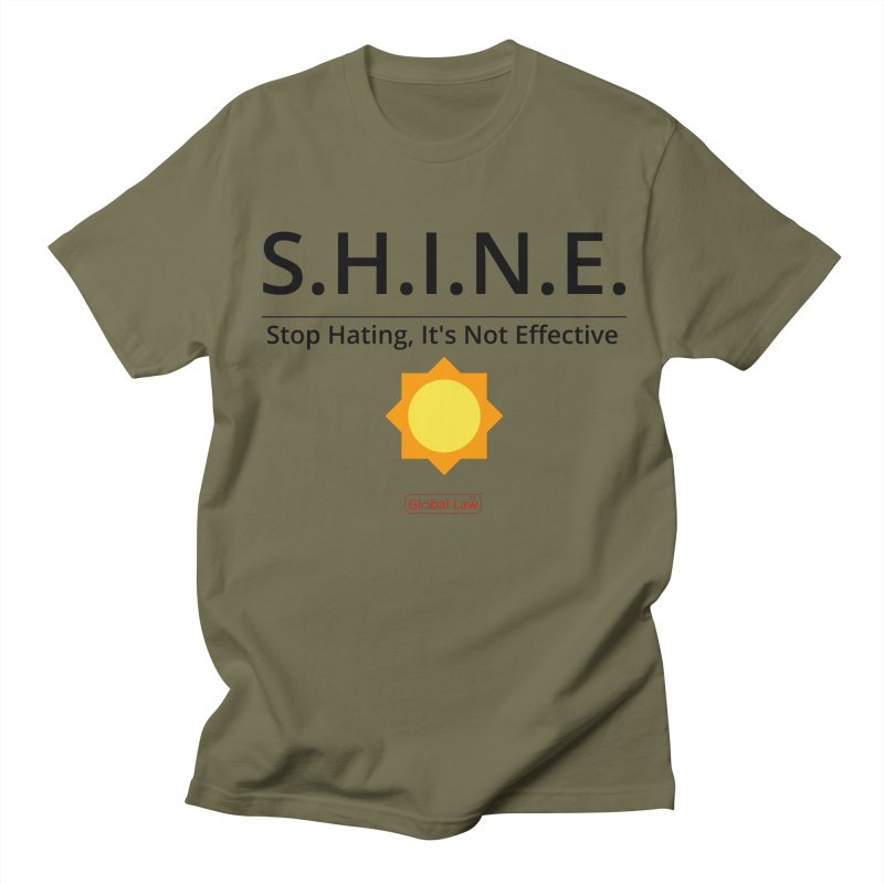 Shine Men's Regular T-Shirt by GlobalLawTV's Artist Shop