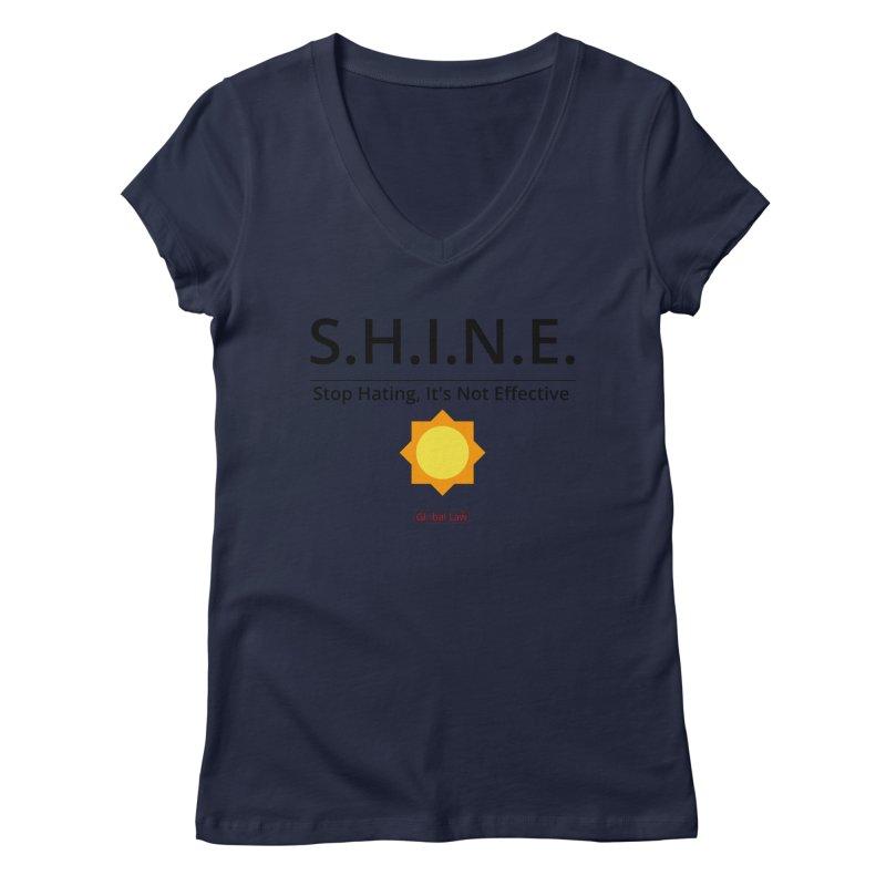 Shine Women's Regular V-Neck by GlobalLawTV's Artist Shop