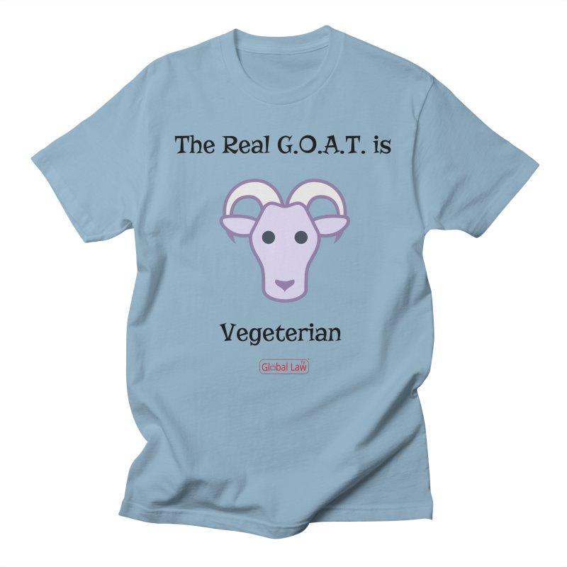 G.O.A.T. Men's Regular T-Shirt by GlobalLawTV's Artist Shop