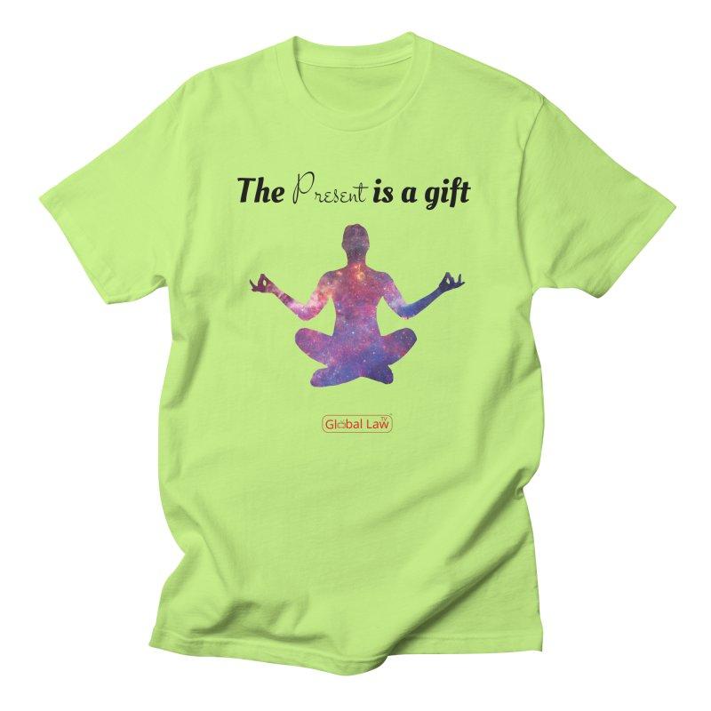Be Present Men's Regular T-Shirt by GlobalLawTV's Artist Shop