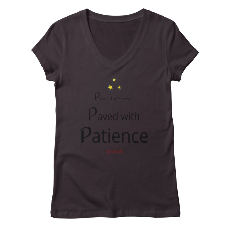 Pyramid of Success Women's Regular V-Neck by GlobalLawTV's Artist Shop