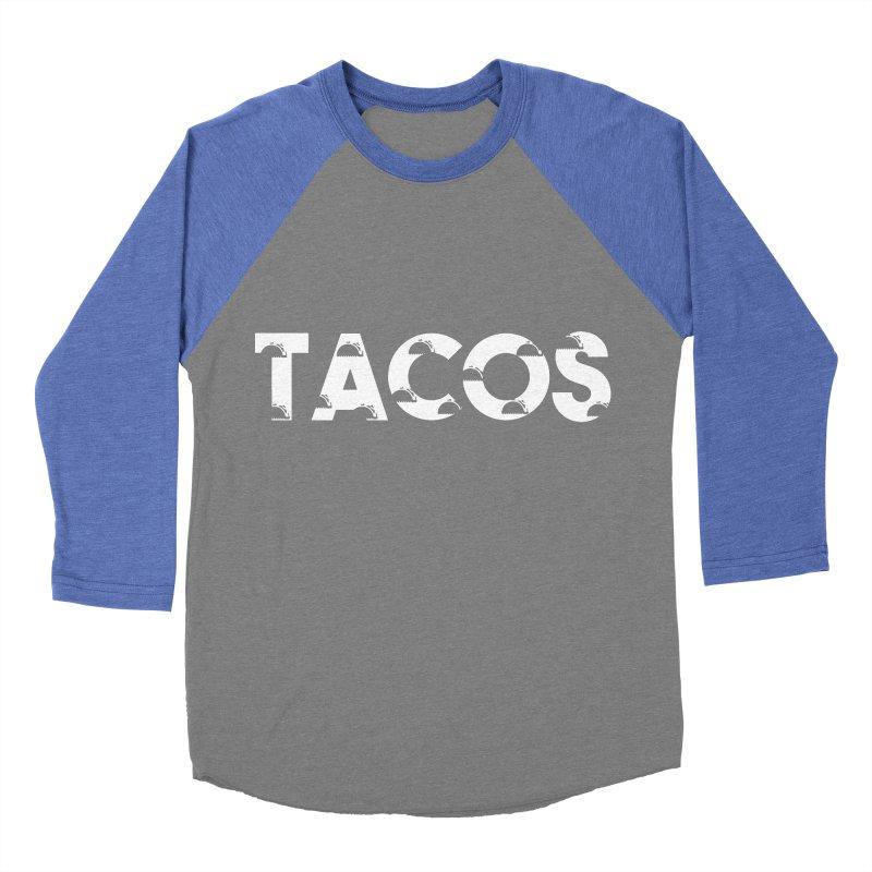 Tacos Women's Baseball Triblend T-Shirt by Gmo's Artist Shop