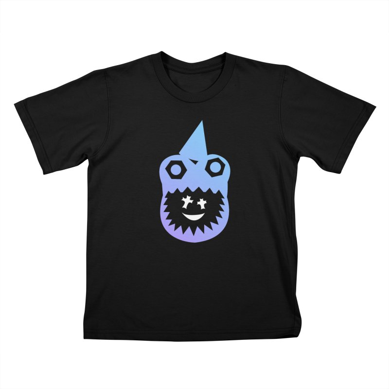 Animal Party in Kids T-Shirt Black by Godlikes