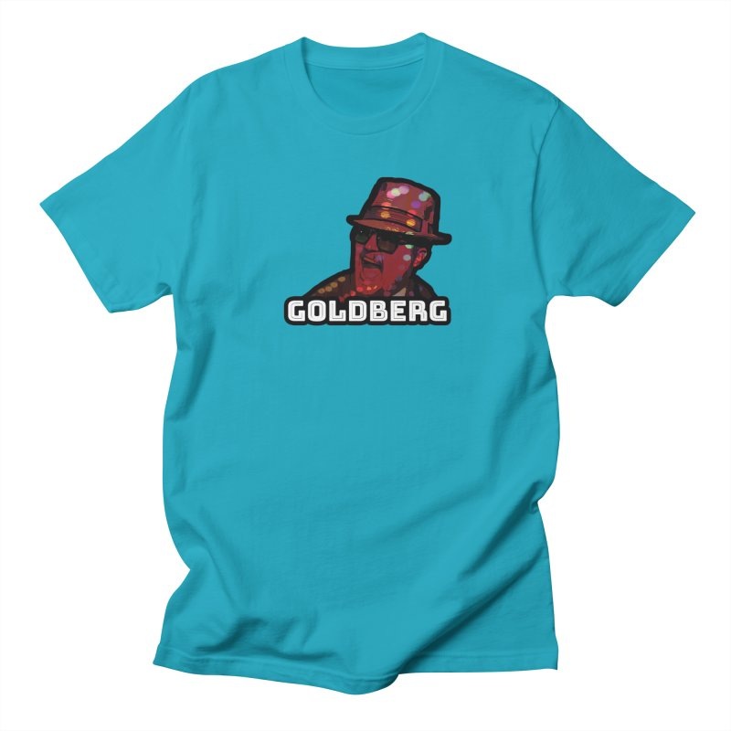 Goldberg Lets Dance in Men's T-Shirt Cyan by Goldberg's Artist Shop