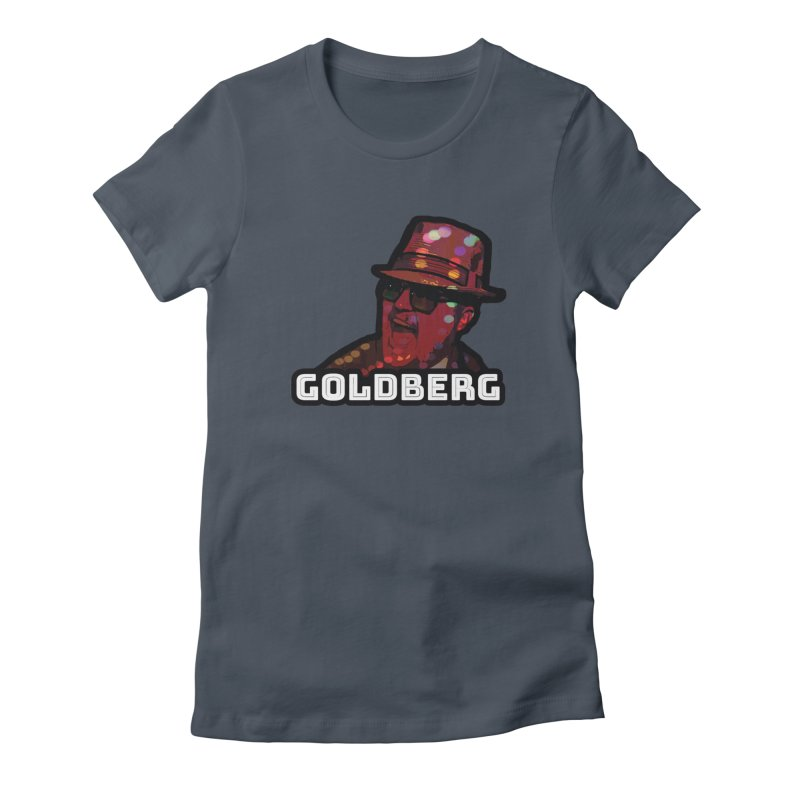 Goldberg Lets Dance in Women's Fitted T-Shirt Denim by Goldberg's Artist Shop