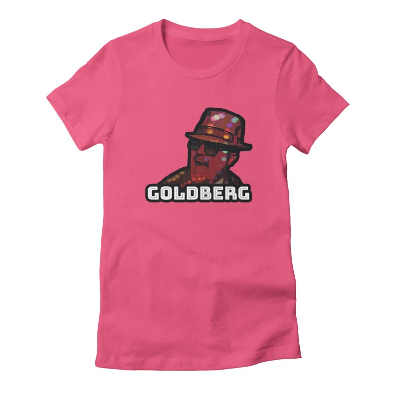Goldberg Lets Dance in Women's Fitted T-Shirt Fuchsia by Goldberg's Artist Shop