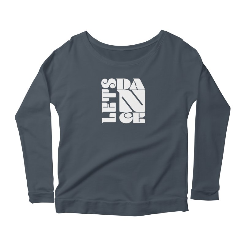 Let's Dance in Women's Longsleeve Scoopneck  Denim by Goldberg's Artist Shop