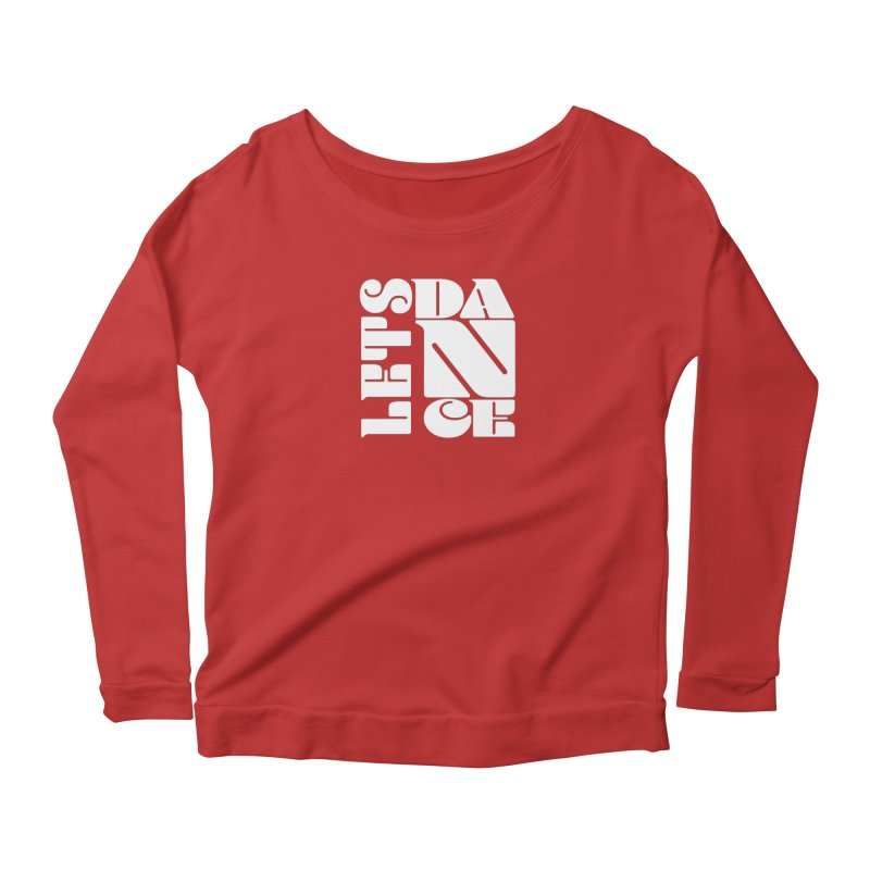 Let's Dance in Women's Longsleeve Scoopneck  Red by Goldberg's Artist Shop