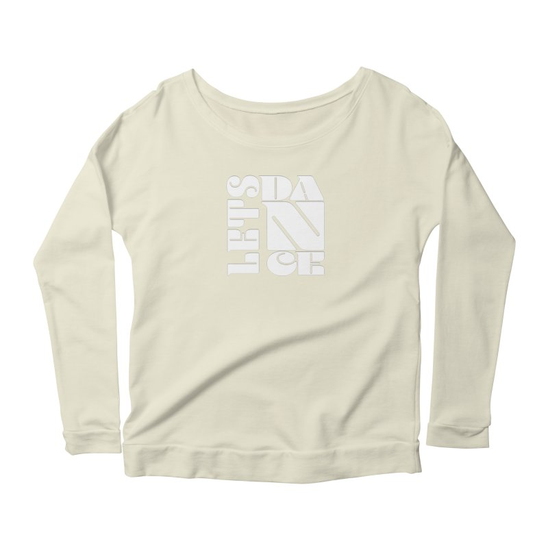 Let's Dance in Women's Longsleeve Scoopneck  Natural by Goldberg's Artist Shop