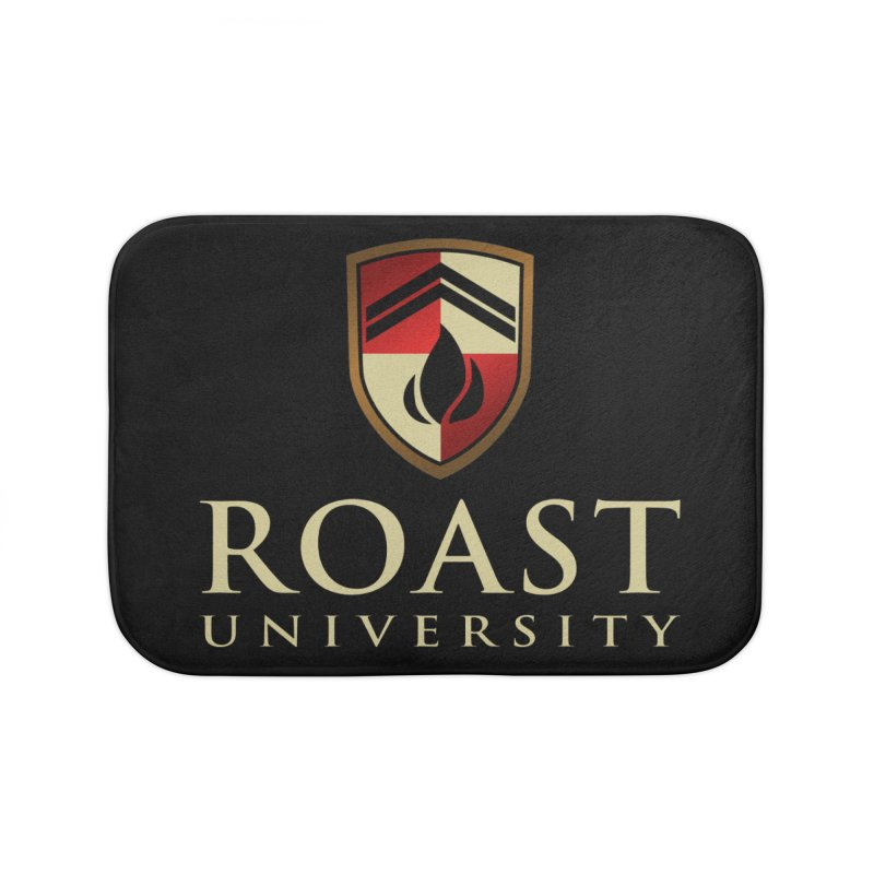 Roast University - The Valedictorian Home Bath Mat by Golden Pony Gear