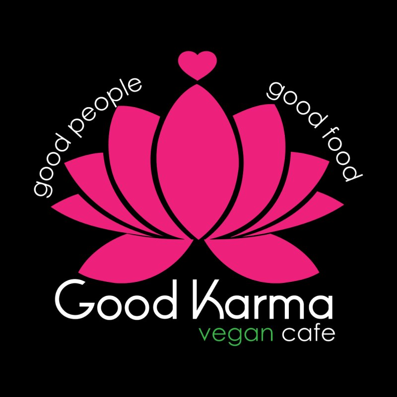 Good Karma Vegan Cafe Kids T-Shirt by GoodKarmaVeganCafeNJ's Artist Shop