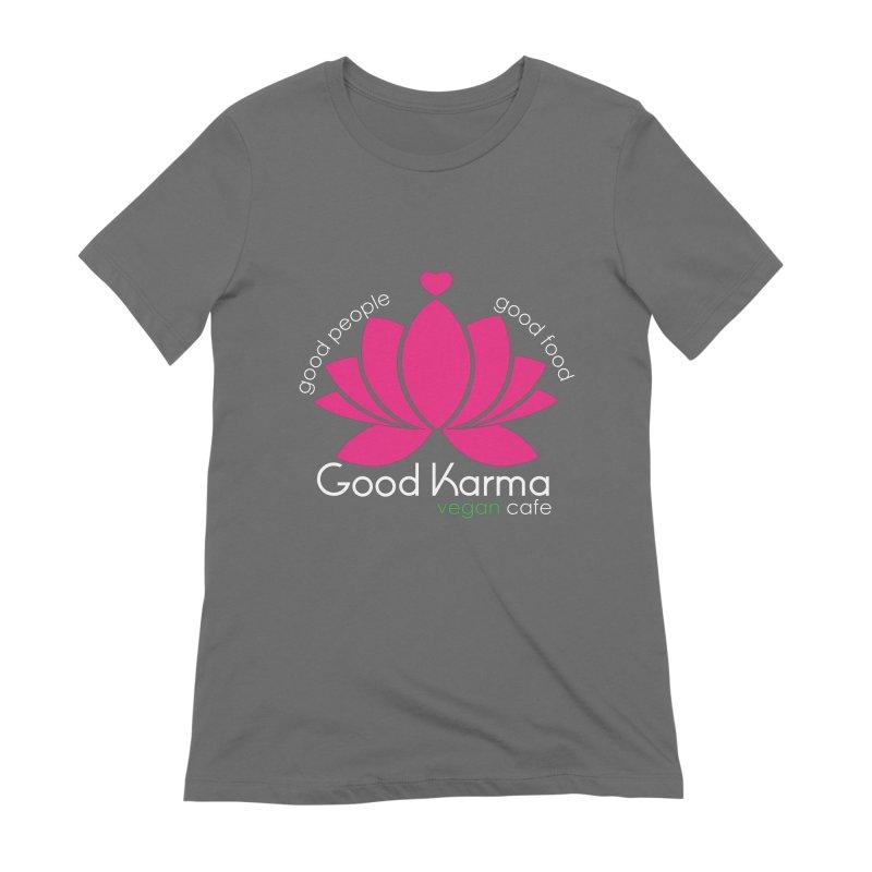 Good Karma Vegan Cafe Women's T-Shirt by GoodKarmaVeganCafeNJ's Artist Shop
