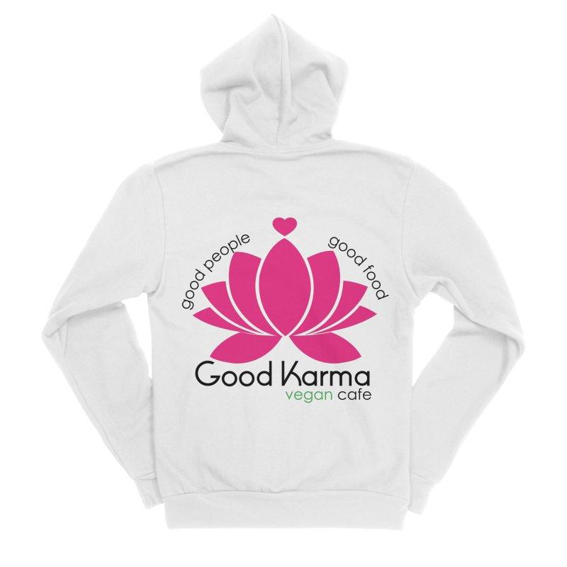 Good Karma Vegan Cafe NJ Women's Zip-Up Hoody by GoodKarmaVeganCafeNJ's Artist Shop