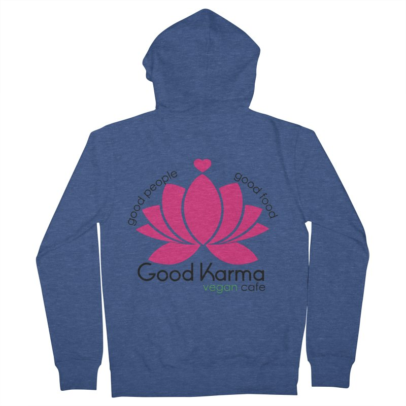 Good Karma Vegan Cafe NJ Men's Zip-Up Hoody by GoodKarmaVeganCafeNJ's Artist Shop