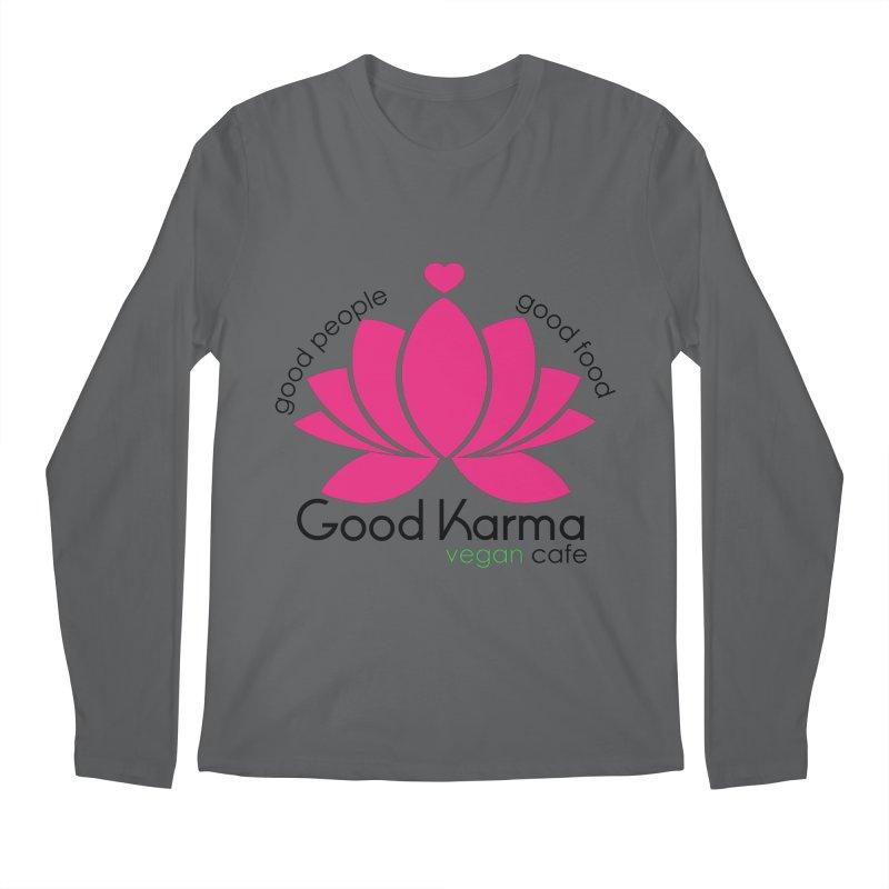 Good Karma Vegan Cafe NJ Men's Longsleeve T-Shirt by GoodKarmaVeganCafeNJ's Artist Shop