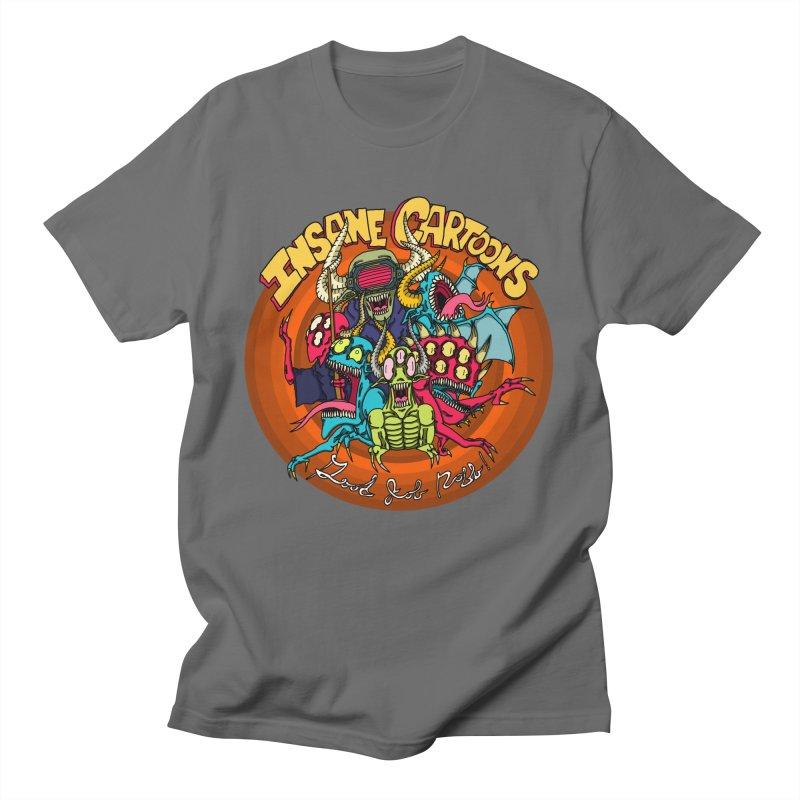 Insane Cartoons Men's T-Shirt by Good Job Robb