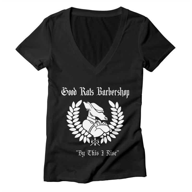 Good Rats RISE Women's V-Neck by Good Rats Barbershop