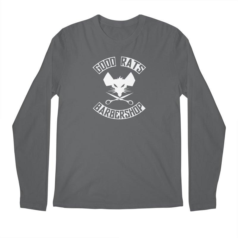 Scissor Face Men's Longsleeve T-Shirt by Good Rats Barbershop