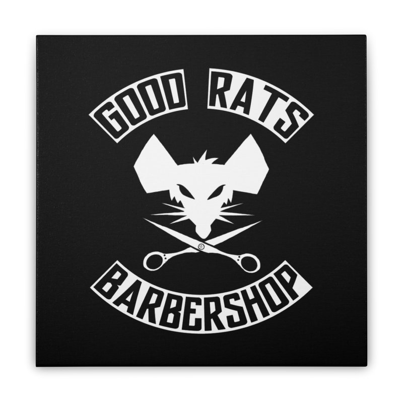 Scissor Face Home Stretched Canvas by Good Rats Barbershop