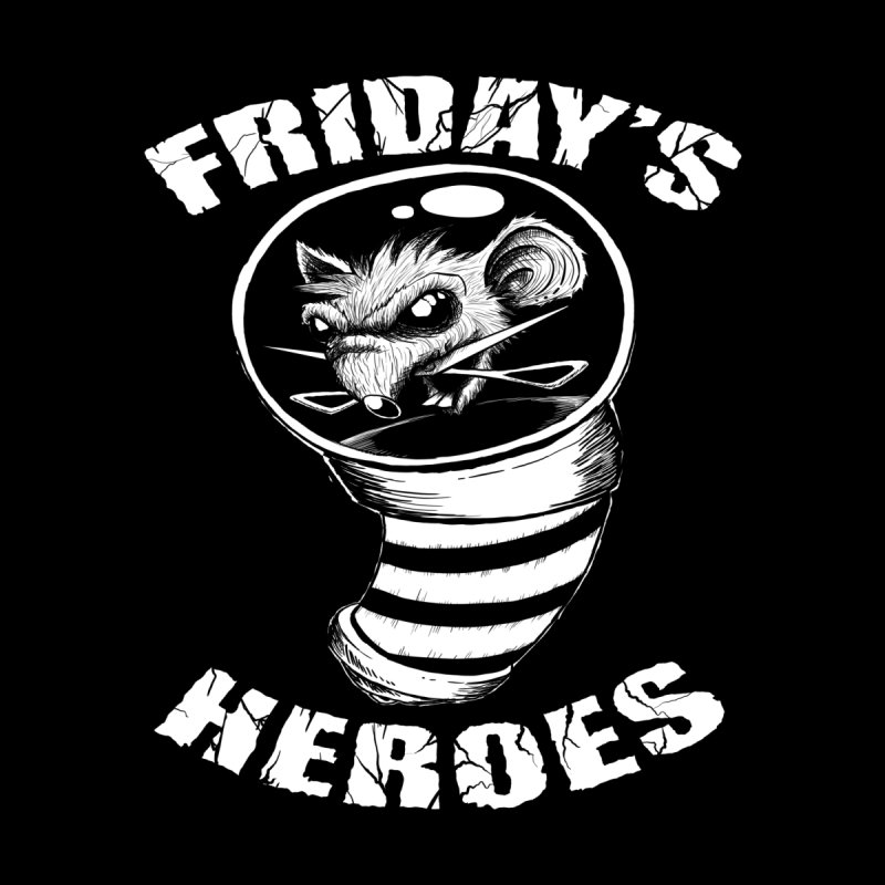 Friday's Heroes Home Stretched Canvas by Good Rats Barbershop