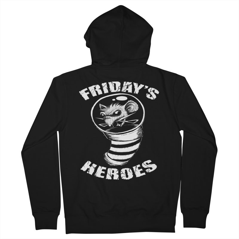 Friday's Heroes Men's Zip-Up Hoody by Good Rats Barbershop
