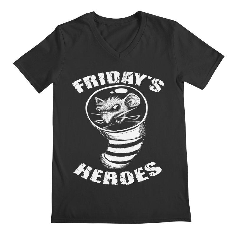 Friday's Heroes Men's V-Neck by Good Rats Barbershop