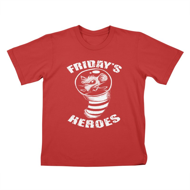 Friday's Heroes Kids T-Shirt by Good Rats Barbershop
