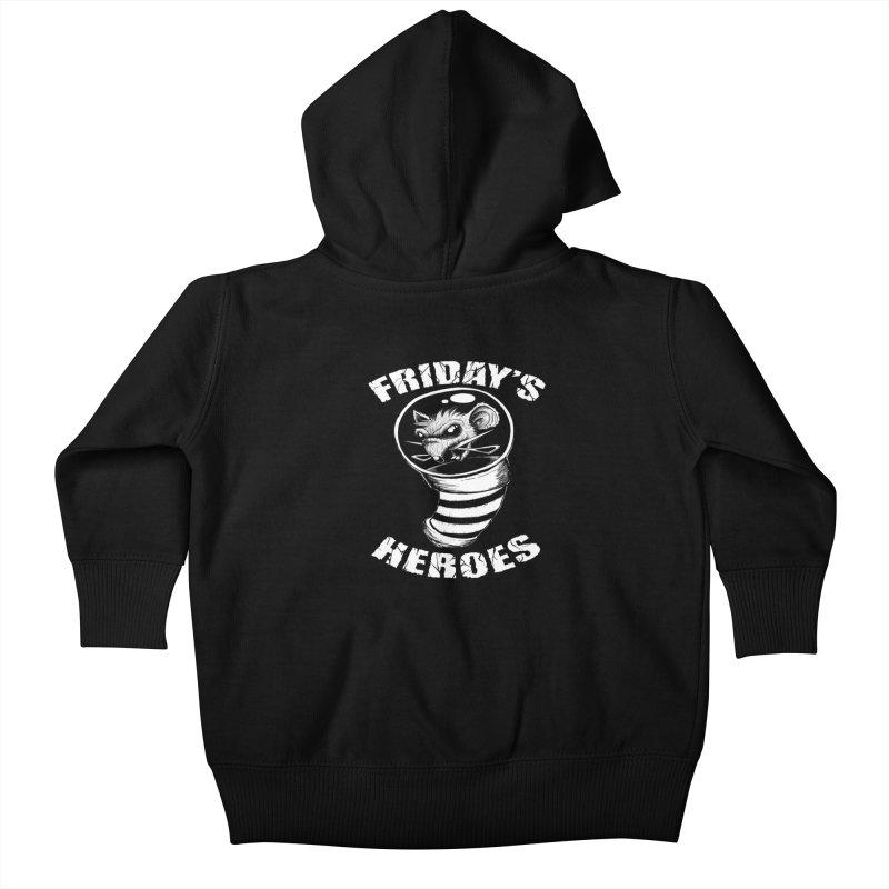 Friday's Heroes Kids Baby Zip-Up Hoody by Good Rats Barbershop