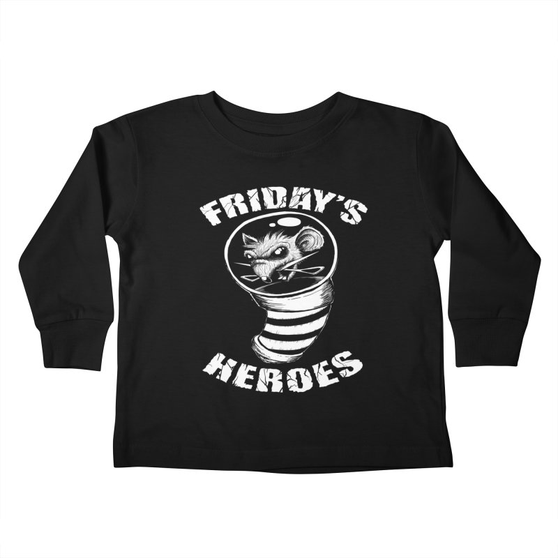 Friday's Heroes Kids Toddler Longsleeve T-Shirt by Good Rats Barbershop