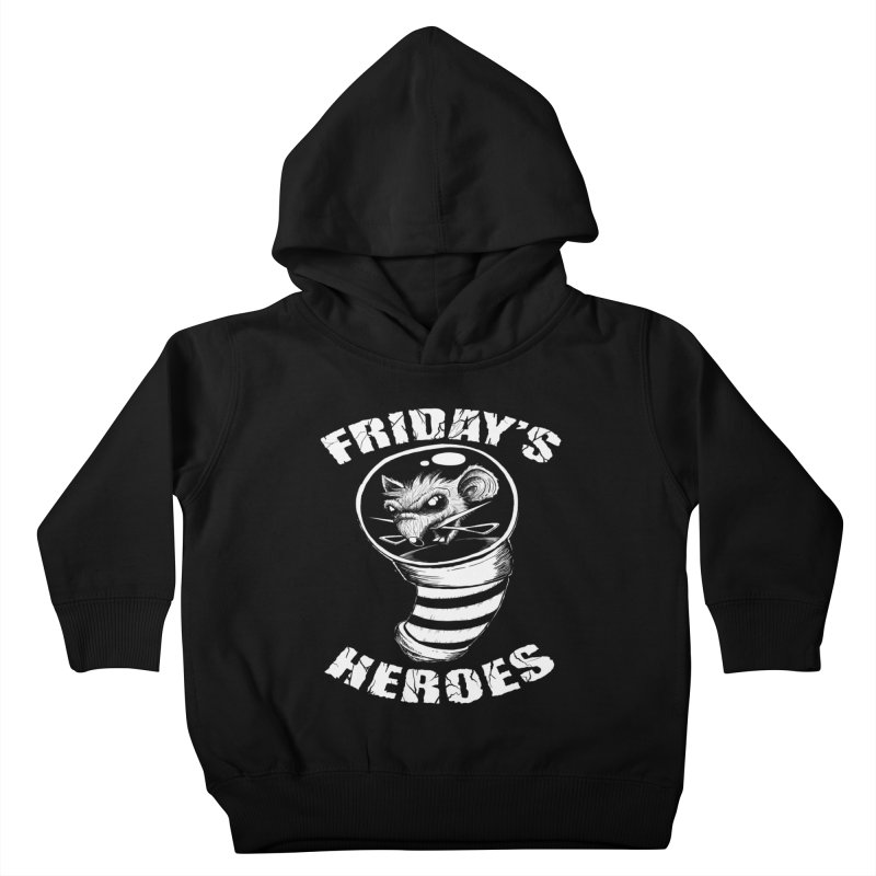 Friday's Heroes Kids Toddler Pullover Hoody by Good Rats Barbershop