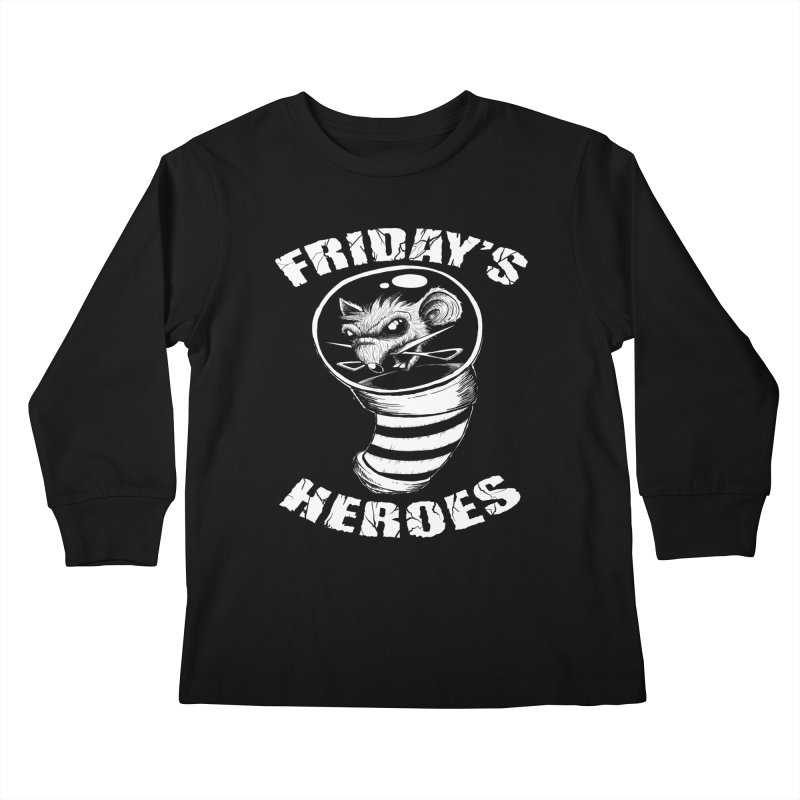 Friday's Heroes Kids Longsleeve T-Shirt by Good Rats Barbershop