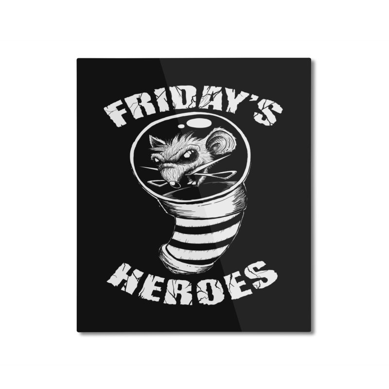 Friday's Heroes Home Mounted Aluminum Print by Good Rats Barbershop