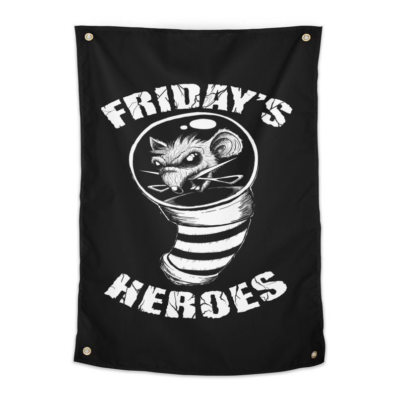 Friday's Heroes Home Tapestry by Good Rats Barbershop