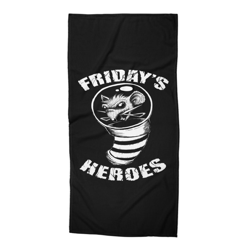 Friday's Heroes Accessories Beach Towel by Good Rats Barbershop