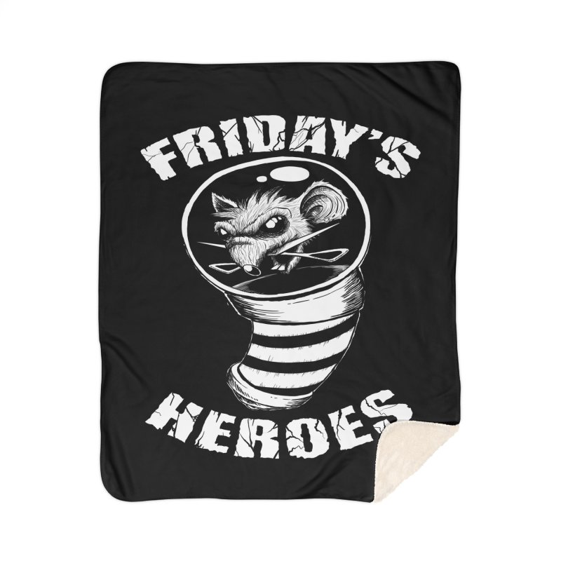 Friday's Heroes Home Blanket by Good Rats Barbershop