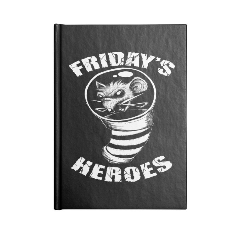Friday's Heroes Accessories Notebook by Good Rats Barbershop