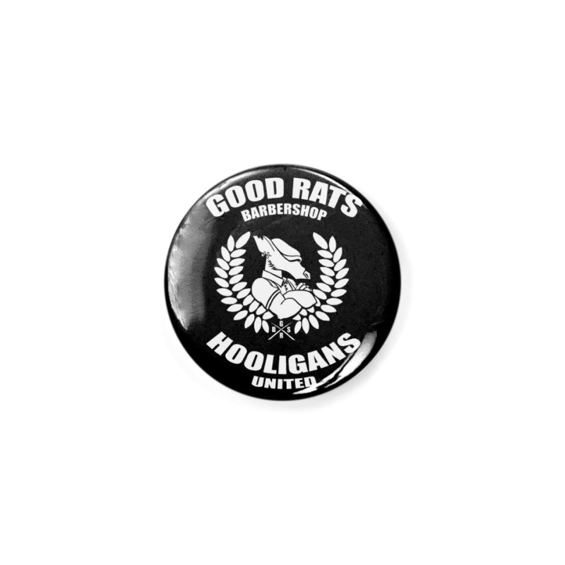 Hooligans United Accessories Button by Good Rats Barbershop
