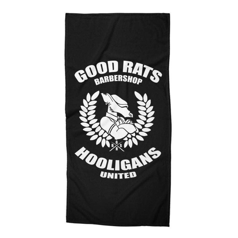 Hooligans United Accessories Beach Towel by Good Rats Barbershop