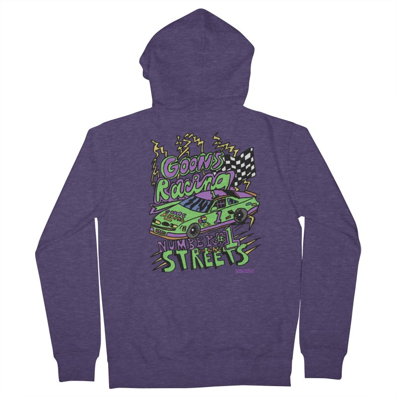 Goons Racing #1 In The Streets Men's French Terry Zip-Up Hoody by GOONS