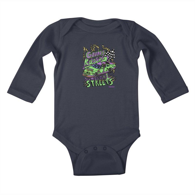 Goons Racing #1 In The Streets Kids Baby Longsleeve Bodysuit by GOONS