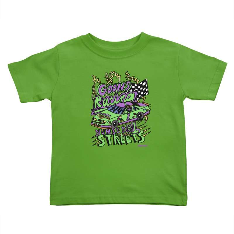 Goons Racing #1 In The Streets Kids Toddler T-Shirt by GOONS