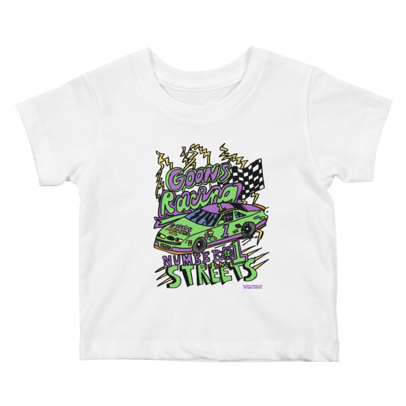Goons Racing #1 In The Streets Kids Baby T-Shirt by GOONS