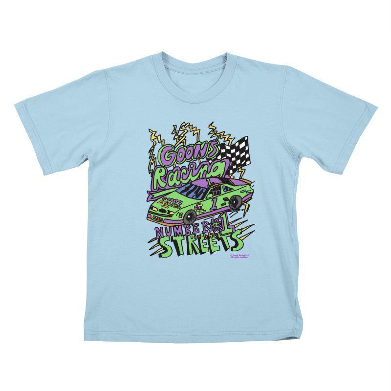 Goons Racing #1 In The Streets Kids T-Shirt by GOONS
