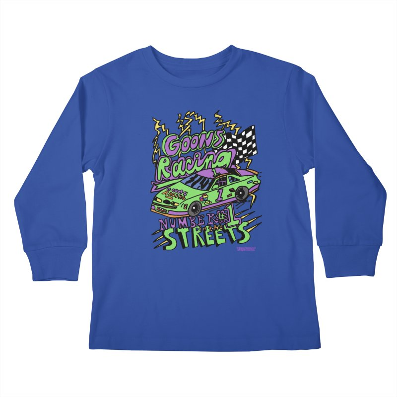 Goons Racing #1 In The Streets Kids Longsleeve T-Shirt by GOONS