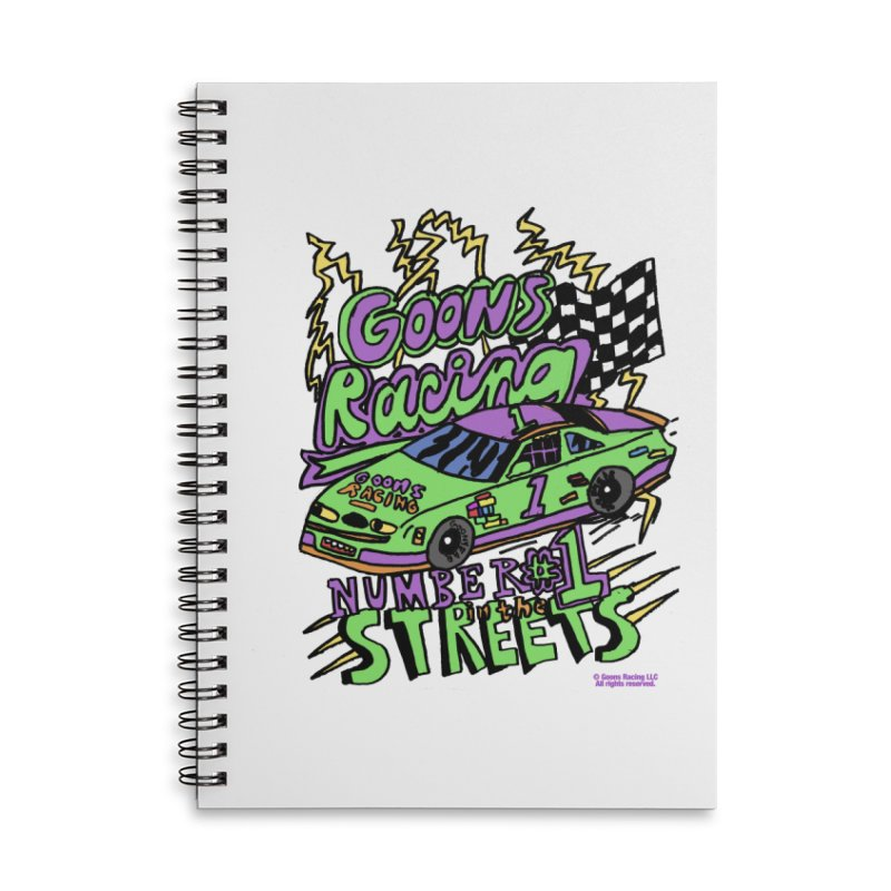 Goons Racing #1 In The Streets Accessories Lined Spiral Notebook by GOONS