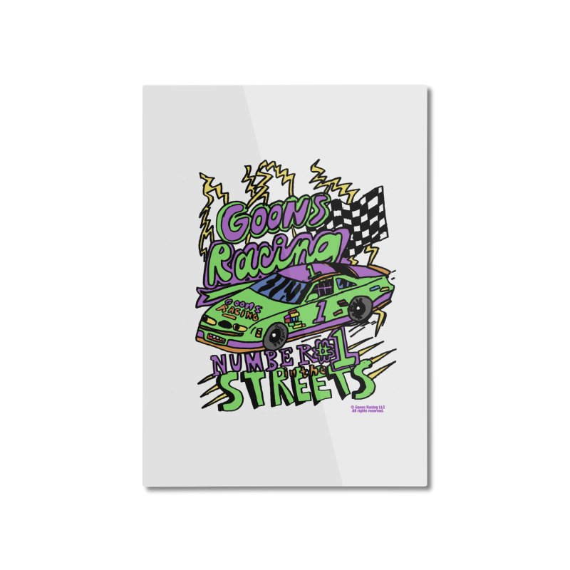 Goons Racing #1 In The Streets Home Mounted Aluminum Print by GOONS