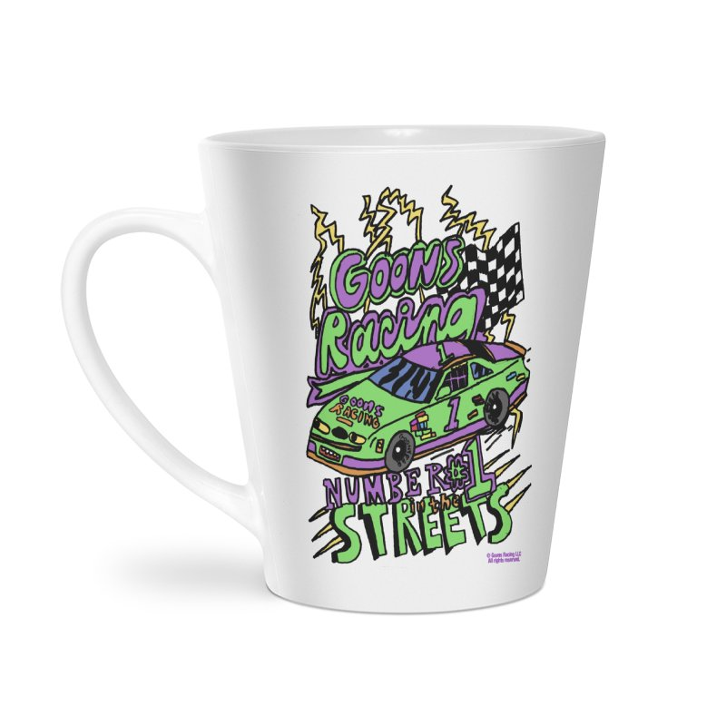 Goons Racing #1 In The Streets Accessories Latte Mug by GOONS