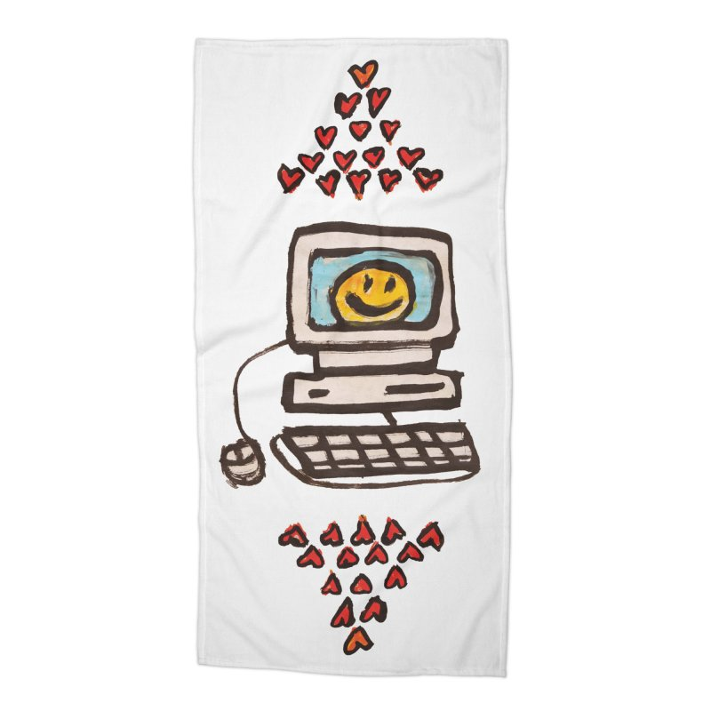 Computer Love Accessories Beach Towel by GOONS