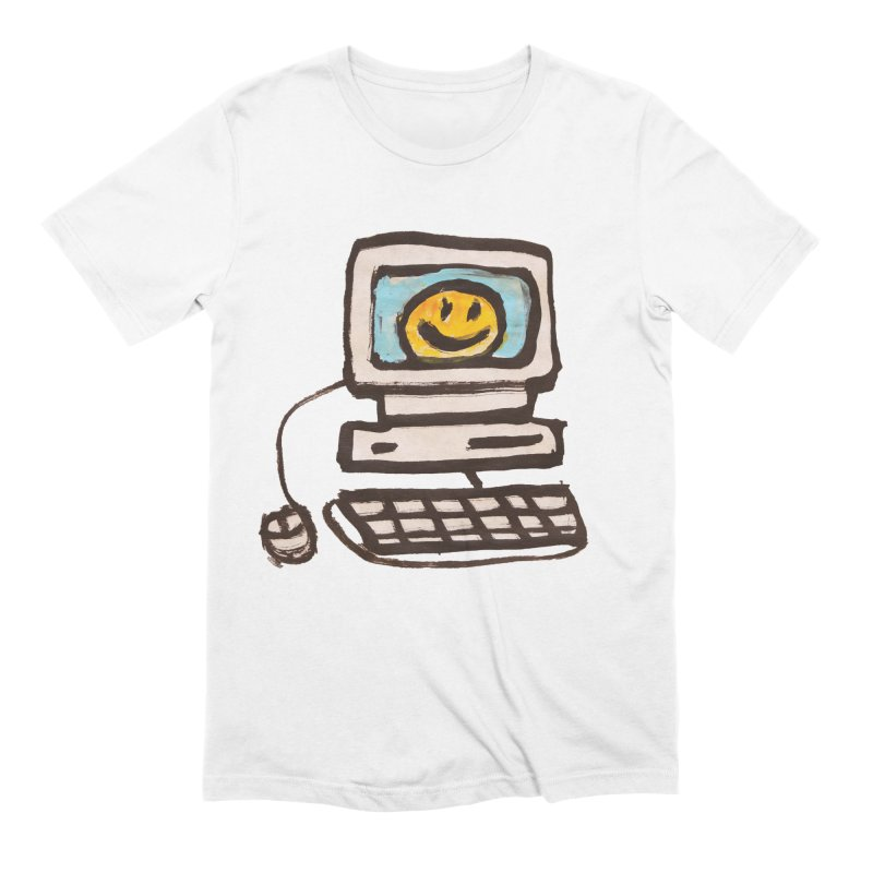 Computer Love in Men's Extra Soft T-Shirt White by GOONS